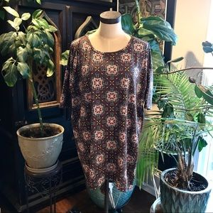 LuLaRoe Irma tribal print tunic top